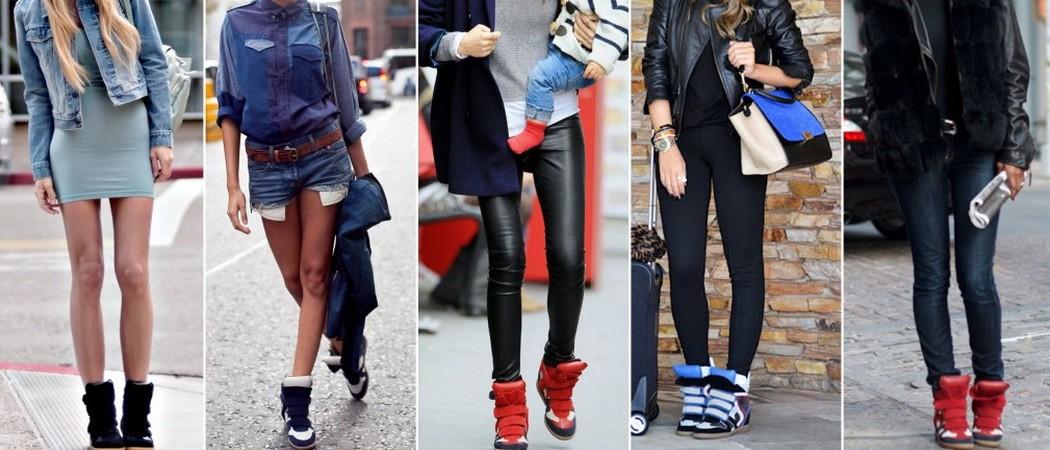 Модная женская обувь: летние сникерсы