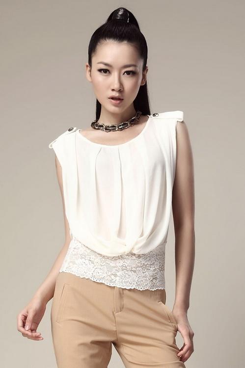 d088872dc60 Фасоны летних блузок  фото красивых моделей блузок с рукавом и без ...