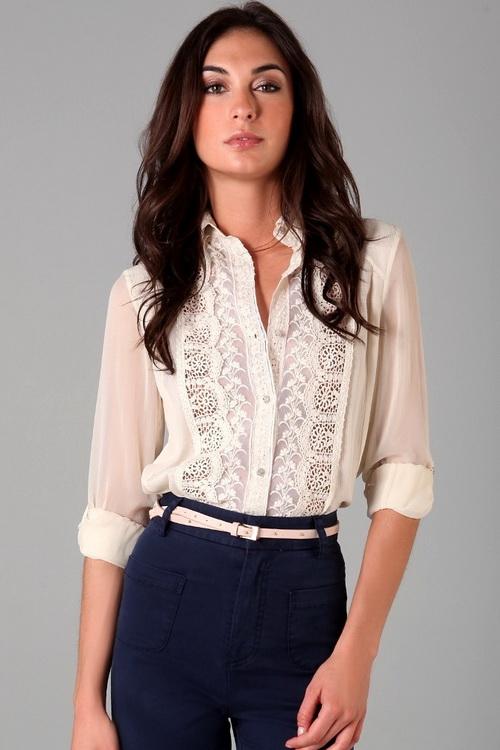 Фасоны красивых блузок