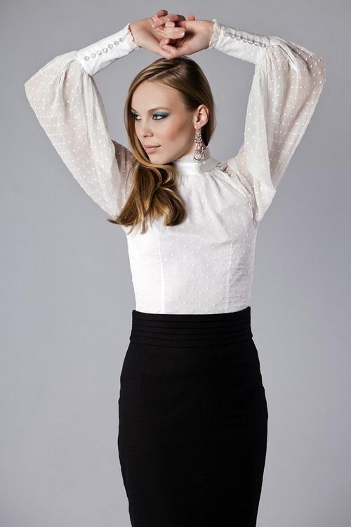 35ced3d4e96 Фасоны летних блузок  фото красивых моделей блузок с рукавом и без ...