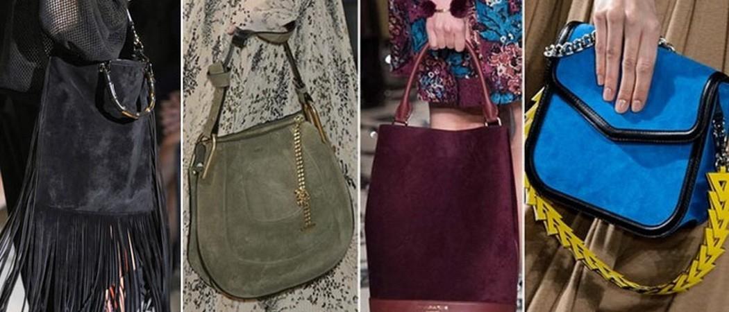 Модные замшевые сумки-2020